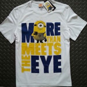 Despicable Me White Graphic Short Sleeve T Shirt